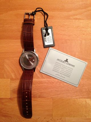 Jacques Lemans Armbanduhr London 1 - 1777k (Ø) 38 Mm Hochwertiges Leder Bild