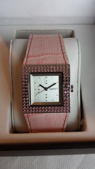 Dkny Ny3370 Damenuhr Armbanduhr Lederarmband Damenarmbanduhr Bild