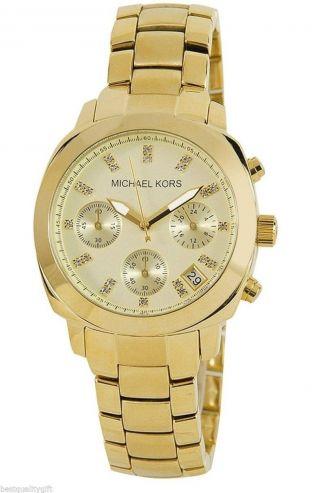 Michael Kors Damen Uhr Mk5132 Chronograph Edelstahl Gold Weihnachten Bild
