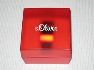 S.  Oliver Digitaluhr,  Damenuhr,  Lederarmband,  Armbanduhr - Wie Bild