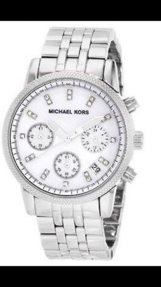 Michael Kors Mk 5020 Damen Uhr Armbanduhr Edelstahl Silber Farben Bild