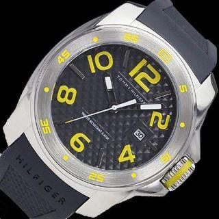 Tommy Hilfiger Herrenuhr Armband Uhr Silikon Schwartz 1790712 Uvp 179€ Bild