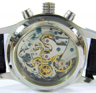Riedenschild Germany Handaufzug Herrenuhr Hand Winding Chrono Watch Chronograph Bild
