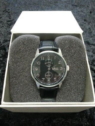 Brax Feelgood Herrenarmband - Uhr,  Schwarzes Lederband,  Mit Karton Bild