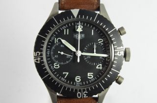 Heuer 1550 Sg Bundeswehrchronograph Bild