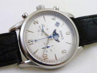 Cimier Chronograph,  Mondphase,  Krokoleder,  Herren Armbanduhr Bild