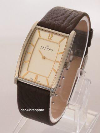 Skagen Herrenuhr / Herren Uhr Steel Leder Silber Braun Gold 294lsl1 Bild