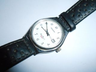 Ältere Orient Herren - Armbanduhr Mit Datumsanzeige Bild