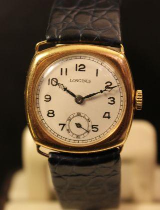 Longines Handaufzug Herren Uhr 20er Jahre Bild