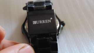 Die Neue Curren Analoge Armbanduhr Für Herren,  Schwarz Aus Edelstahl Bild