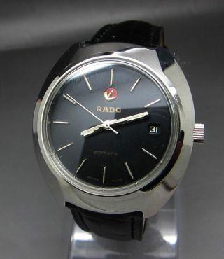 Schwarzer Rado Voyager 17 Jewels Mit Datumanzeige Mechanische Uhr Bild