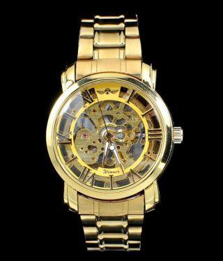 999er Golduhr Winner Automatic Automatik Skelettuhr - Uhr Bild