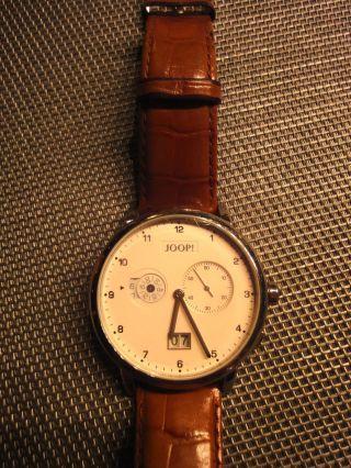 Elegante Joop Quarz Herrenarmbanduhr Uhr Tm 443 1 805 Mit Datum Und Wecker Bild