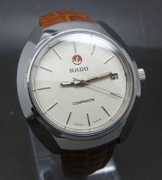 Weiß Rado Companion Mit Datumanzeige 17 Jewels Handaufzug Uhr Bild