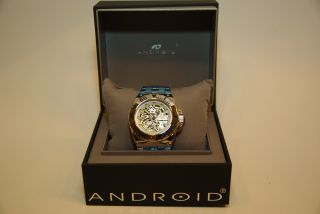 Android Watch Usa Corsair Skeleton Automatic Ad649as Rarität Skelettuhr Bild
