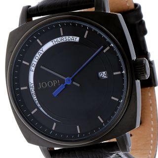 Joop Herrenuhr Xl Retro Jp100521f05 Schwarz Leder, Bild