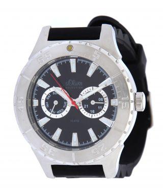 S.  Oliver Herren Armbanduhr,  Uhr,  Watch,  Silber So - 1914 - Pm Bild
