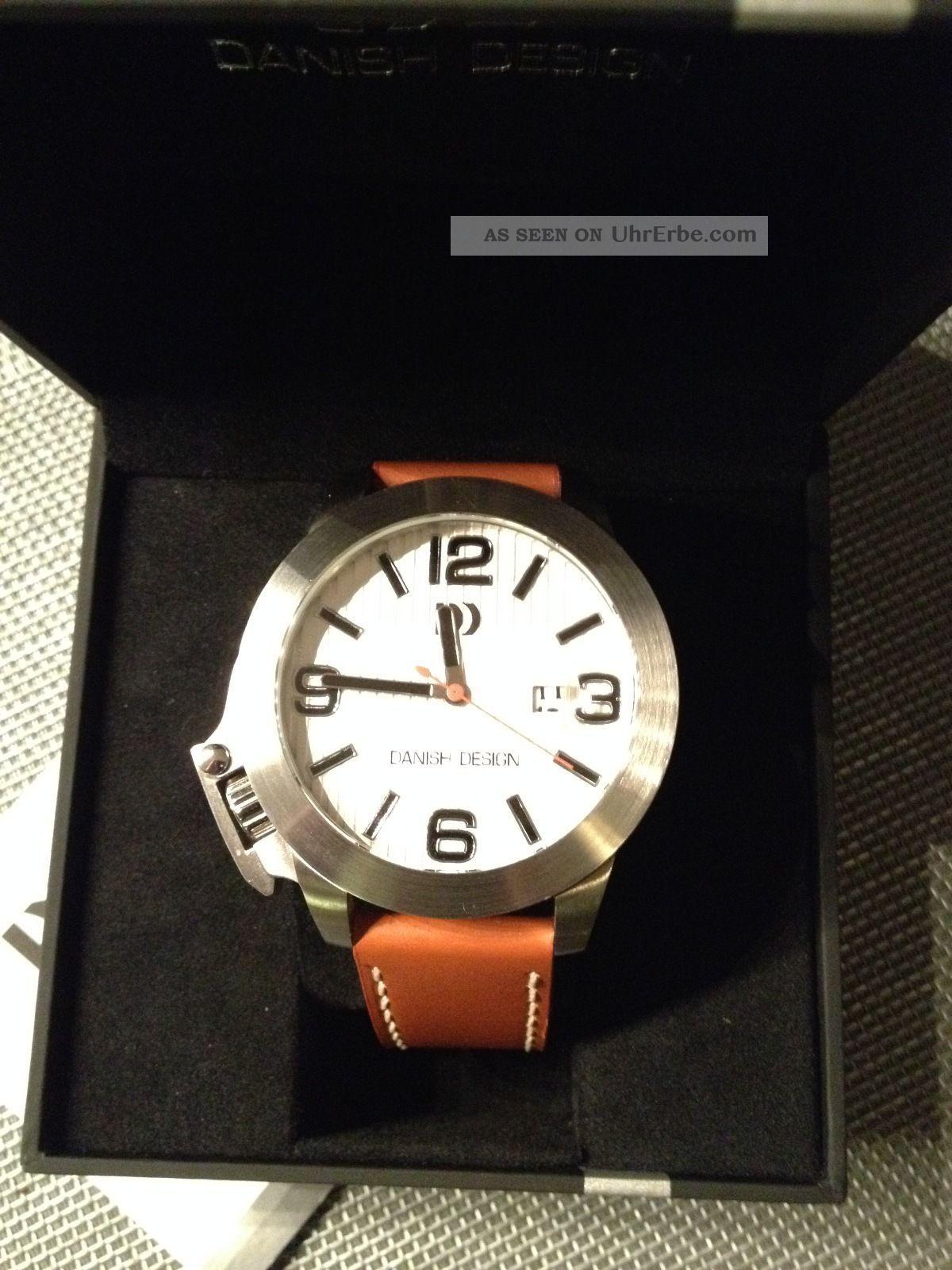 Danish Design Quarz Herrenarmbanduhr Uhr Iq12q915 Mit Datumsanzeige (lupe) Armbanduhren Bild
