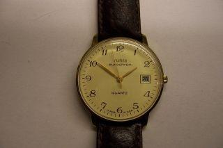 Sammlerstück Kal.  13 Ruhla Quarz Eurochron Ddr / Gdr Armbanduhr Umf Bild