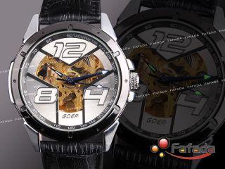 Goer Skelett Mechanisch Automatik Armbanduhr Herren Uhr Bild
