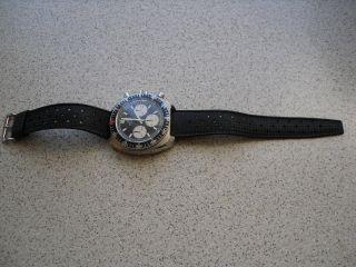 Vintage Herren Uhr Watch Glycine Gmt Chronograph / Baugleich Heuer Camaro Bild