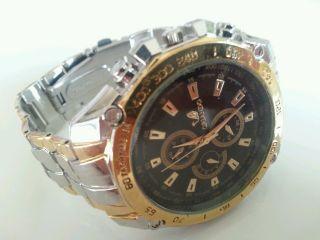 Herrenuhr Edelstahl Armband Uhr Armbanduhr Quarzuhr Uhren Watch Bild
