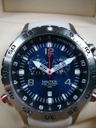 Nautica Taucher Chronograph A37509 Mit Verschiedenen Wechselbändern Wie Bild