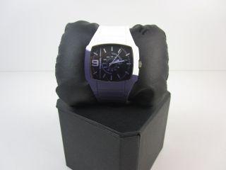Diesel - Herren Armbanduhr - Uhr - Weiß Violett Bild