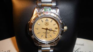Tag Heuer 4000 Medium Wf1221 - Ko Quarz Two Tone Model Made In Swiss Bild