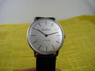 Glashütte Uhr Der Gub Im Sogenannten Bauhaus - Stil Wohl Nos Bild