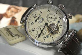 Weihnachtspreis Ingersoll Walldorf In1312cr Herren Armbanduhr - Lederarmband Braun Bild