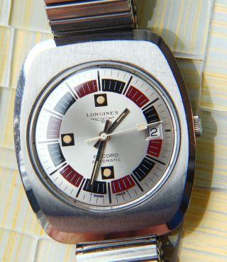 Longines Elegant - Dynamische Große 1970er Dresswatch Edelstahl,  Automatik Bild