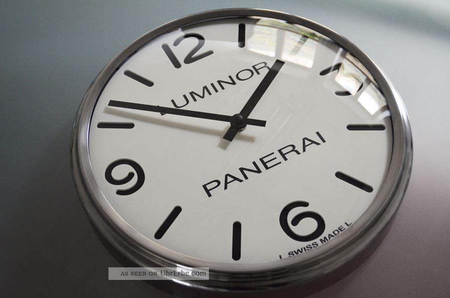 Luminor panerai h ndler showroom wanduhr 31 cm durchmesser - Wanduhr 100 cm durchmesser ...