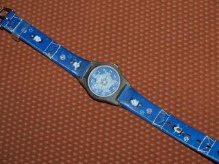 Kinderarmbanduhr Armbanduhr Fußball Blau Bild