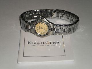 Orig.  Krug - BaÜmen Armbanduhr Silberfarben Neuwertig In Orig.  Verpackung Bild