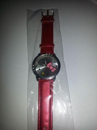 Hello Kitty Uhr Rot Mit Strass - Kinder Mädchen Damen Bild