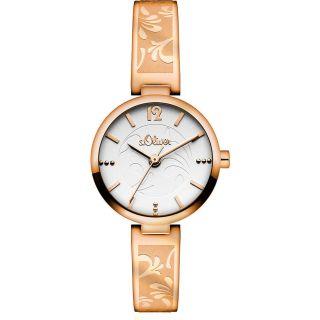 S.  Oliver Damen - Armbanduhr Xs Analog Quarz Edelstahl So - 2764 - Mq Rose`gold 139,  - Eu Bild