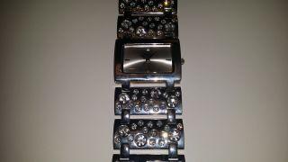 Damen Armbanduhr Buffalo Silber Mit Steinchen Sehr Gut Erhalten Bild