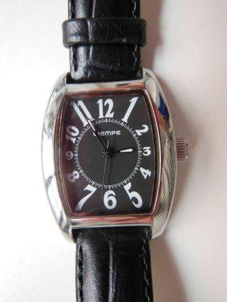 Klassisch Elegant Wempe Damen Uhr Lederarmband Quarz Edelstahl Bild