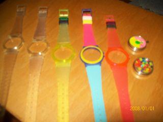 Kinder Uhr Bunt Mit 5 Verschiedenen Wechsel Armbändern Unbenutzt Fortis Bild