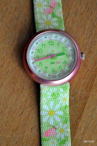 Kinderuhr Flik Flak,  Armbanduhr,  M.  Armband,  Schmuckdose,  Neue Batterie Bild