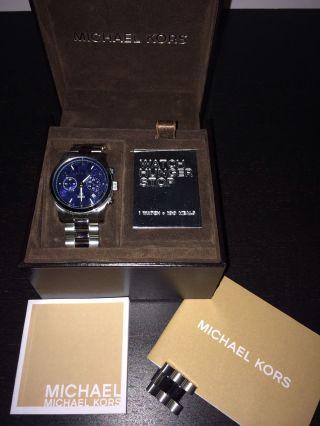 Michael Kors Mk5814 Damen Armbanduhr Watch Hunger Stop Edition Silber Bild