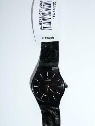Skagen Denmark Uhr Slimline Gehäuse Aus Titan 233stmb Luxus Damenarmbanduhr Bild