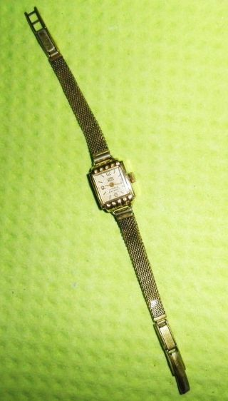 Damenuhr Umf Ruhla 16 Rubis 20 Mikron Vergoldet Aus Den 60er Jahren Bild