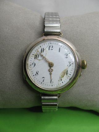 Antike - Damenuhr - D & C 89203 S - Silber 0,  800 - Um 1900 - Mit Box - Läuft Bild