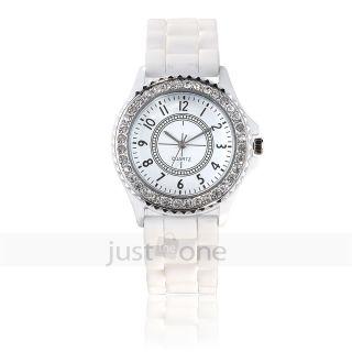 Ziffer Armbanduhr Silikon Armband Sport Uhr Jelly Wrist Watch F.  Damen Mädchen Bild