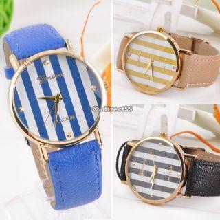 Frauen Weinlese Uhr - Leder - Quarz - Armbanduhr Damen Frauen Mädchen Quarz Bild