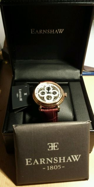 Thomas Earnshaw Grand Calendar Men ' S Automatic Watch Jpj Es - 8043 - 04 Watch Stock Bild