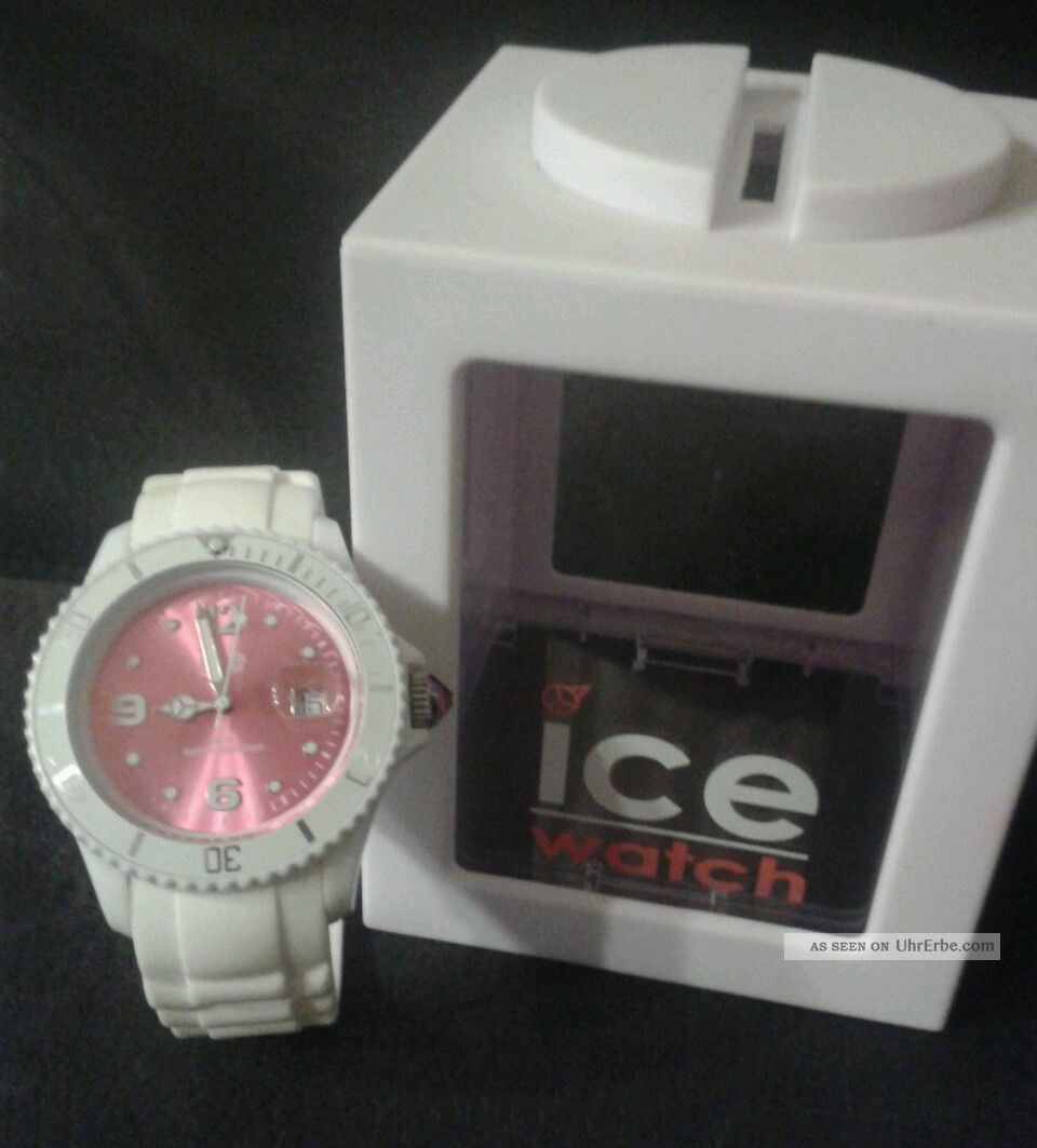 ice watch uhr wei rosa. Black Bedroom Furniture Sets. Home Design Ideas