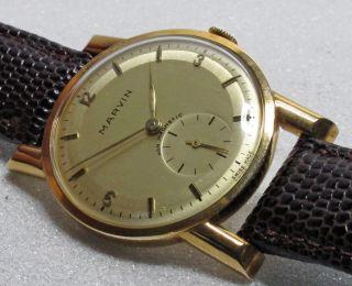 Marvin Armbanduhr Gold 585 Mit Lederband Bild